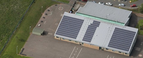 St Peter's Primary School North Ayrshire Solar PV Installation
